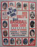 1988RED FOLEY'S BEST BASEBALL BOOK EVER 130PEEL-OFF STICKERS COLLECTOR'S EDITION