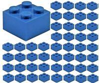 ☀️50x NEW LEGO 2x2 DARK BLUE Bricks # 3003 BULK Parts City Building