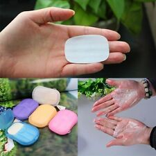 With Mini Case Health Care Soap Paper Leaves Portable Clean Wash Hand