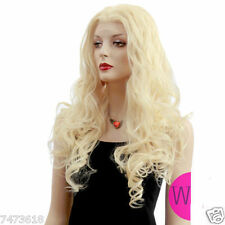 Occident Style Blonde Wavy Front Lace Wig Hair Fashion Long Cosplay Wig Hair NEW