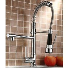 Pull Down Sprayer Kitchen Faucet Sink Mixer Tap Double Water Spout Deck Mounted