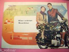 ✪altes original Sammler Prospekt NSU 125 ZDB Motorrad Eine schöne Maschine