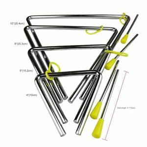 Rhythm Steel Triangle Beater Musical instruments with Stick Kid Child for Gift