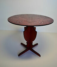 Table Furniture for dolls 1:4 1/4 18 inches Tonner BJD color red wood