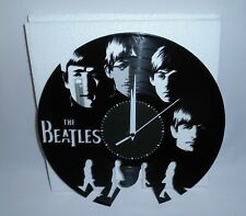 "The Beatles 12"" Black Vinyl Wall Clock New"
