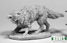 1 x WINTER WOLF - BONES REAPER figurine spearman rpg d&d loup hiver yeti 77437