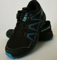 SALOMON SPEEDCROSS J Boys Black Blue Hiking Trail Shoes - 1   404820