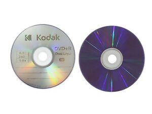 20 KODAK 8X Blank DVD+R DL Dual Double Layer Logo Branded 8.5 GB Media Disc