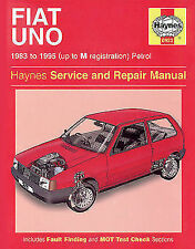 0923 Fiat Uno Haynes Service and Repair Manual 1983 to 1995
