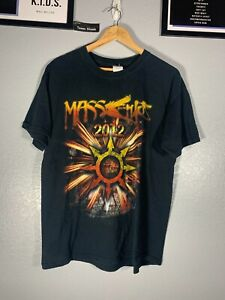 Gildan 2012 Mass Chaos Godsmack Halestorm Black Concert Band Shirt Tee L Large