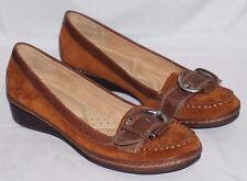 Naturalizer N5 Comfort  5.5 M Click-Tan/Coffee Women's Shoes Flats New