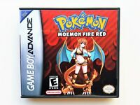 Pokemon Moemon Fire Red Game / Case - GBA Gameboy Advance Anime Fan Made Mod USA
