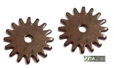 """Rock Grinder Spur Rowels1-1/4"""" Ant. Brown Steel Sold in Pairs New Free Shipping"""