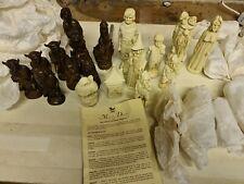 More details for tolkien enterprises1988 mascott dircet the lord of the rings chess set  antique