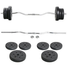 Yaheetech  Pro55 LB Gym Barbell Dumbbell Weight Set