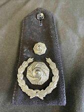 More details for fire brigade asst chief fire officer rank single  metal epaulette original (7554
