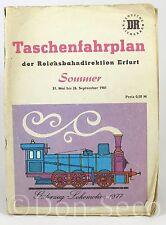 Taschenfahrplan der Reichsbahndirektion Erfurt Sommer 1981 DR