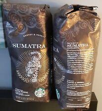 New listing 2 Starbucks Sumatra Dark Roast Blend Whole Bean - 1lb each
