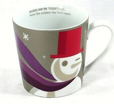 2011 Starbucks When We're Together Everything Warm Winking Snowman 18 Oz Mug Cup
