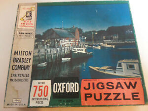 1958 MB Milton Bradley OXFORD MARINERS COVE 4848 Jigsaw Puzzle COMPLETE 750pc