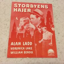 The Glass Key Alan Ladd Veronica Lake William Bendix 1942 Danish Movie Program