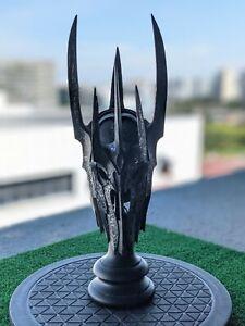 💥Sideshow Weta Lord of the Rings 1/4 scaleHelm of Sauron Scaled Helmet Replica