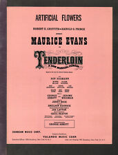 TENDERLOIN Harnick & Bock 1960 ARTIFICIAL FLOWERS Show Vintage Sheet Music Q22