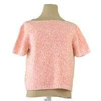 Max Mara knit Orange White Woman Authentic Used T1324