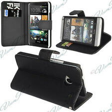 Case Cover Covers Folding Wallet Leather Holder Video HTC Desire 601