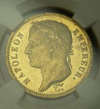 France 1812 A Gold 40F NGC AU Details Prooflike