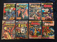 MARVEL HORROR Bronze lot of 8 comics: Tomb of Dracula, Werewolf by Night, Fear