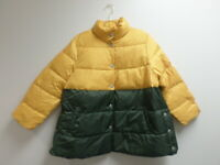 Who What Wear Women's Long Sleeve Puffer Jacket with Snaps Yellow/Green 1X NWT