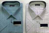 New Mens Men's Big & Tall King Short Sleeve Summer Check Shirts 3XL 6XL shirt