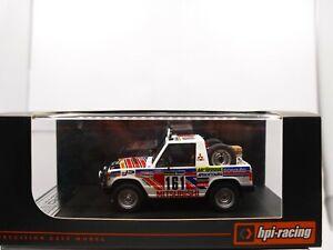 HPI 8877 Mitsubishi Pajero Car#161 1983 Rallye Paris Dakar 11th 1:43 MIB