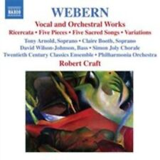 Anton Webern Vocal and Orchestral Works 0747313253128 by Arnold CD