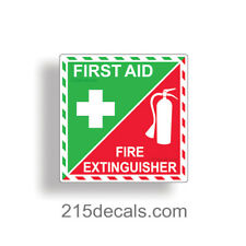 First Aid Fire Extinguisher Inside Sticker Decal Adhesive Emergency Safety Kit