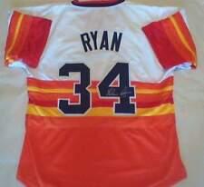 6Signed Houston Astros 1980's Nolan Ryan authentic rainbow jersey - with COA