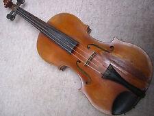 old 4/4 Violin violon  Nicely flamed  back
