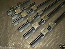 linear slide guide SBR12-300/SBR16-500/SBR20-800MM 6rail+12bearing block CNC set