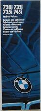 BMW série 7 couleurs 1985 & rembourrage brochure-les marchés de l'euro inc uk 735i 745i