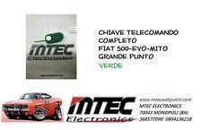 Chiave Cover Telecomando FIAT Nuova 500 GRANDE PUNTO EVO LANCIA verde