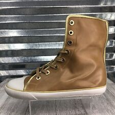 Jessica Simpsons Fashion Lace Up Cap Toe Boot Faux Leather Honey Shoe Size 7.5
