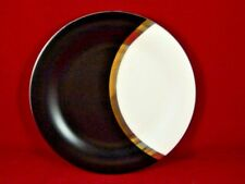 Sasaki China Tucano 1985 Bread and Butter Plate Black White Gray Gold Silver