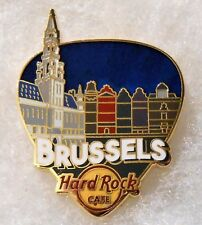 HARD ROCK CAFE BRUSSELS GREETINGS FROM GUITAR PICK SERIES PIN # 96467