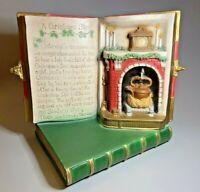 Vintage 1985 Gare Ceramic Mold Handpainted CHRISTMAS STORY Book Fireplace Santa