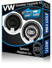 VW Golf MK4 Rear Door Speakers Fli car speakers + speaker adapters 210W