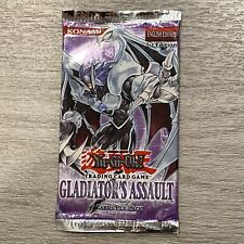 YuGiOh! 1st Edition GLADIATOR'S ASSAULT Booster Pack! Out Of Print! Rare!