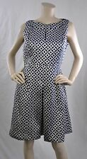LAUREN Ralph Lauren New W Tags Geometric Cocktail Dress Blue Gold Size 12P $184