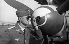 WW2 WWII Photo German Luftwaffe Bf109 Cannon Bore Sighting World War Two / 6182