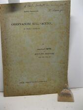 MARANGONI Matteo, Osservazioni sull' 'Acuto' di Paolo Uccello